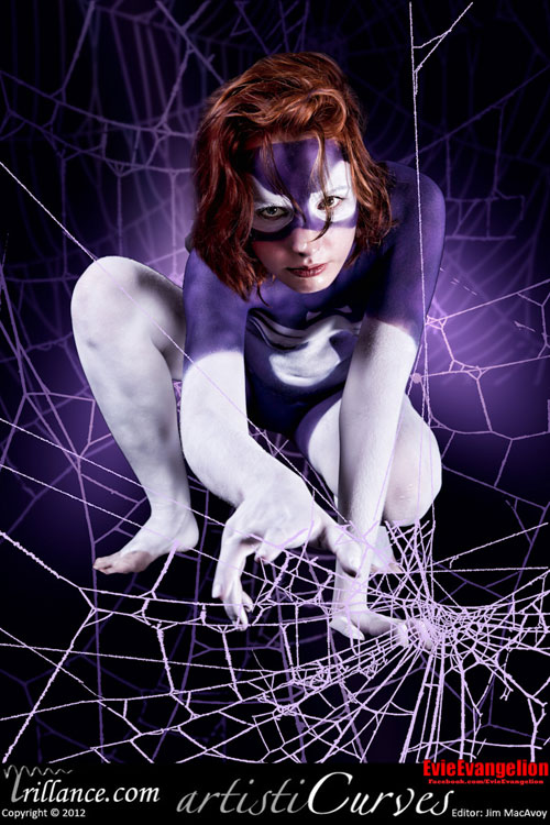 Spider Woman Body Paint