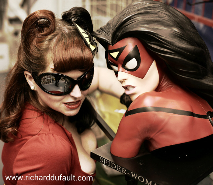 Bombshell Spider-Woman Cosplay