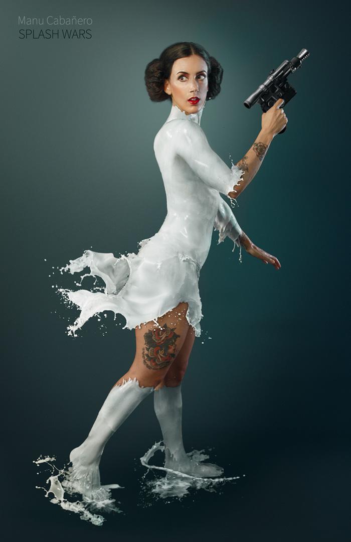 Splash Wars Star Wars Pinups Dressed in Milk