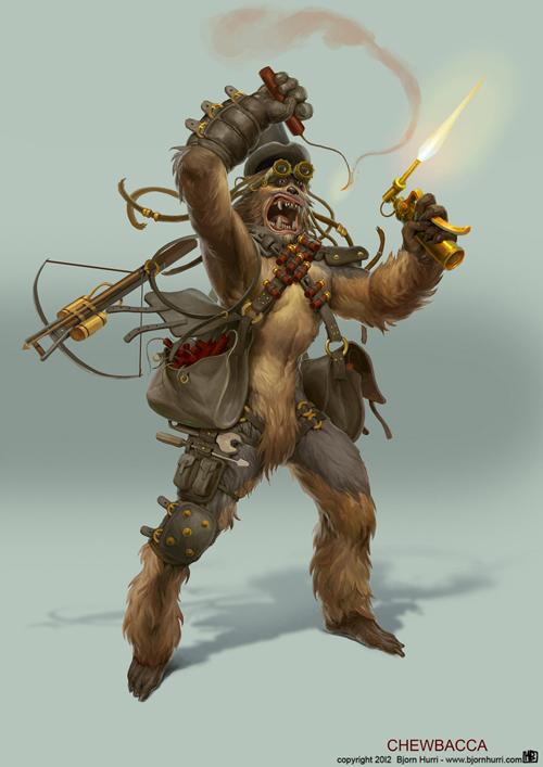 Steampunk Star Wars Fan Art Jabba The Hutt And Leia