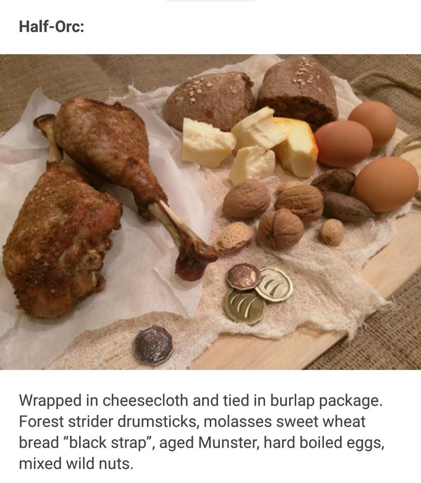 Rations for RPG Races