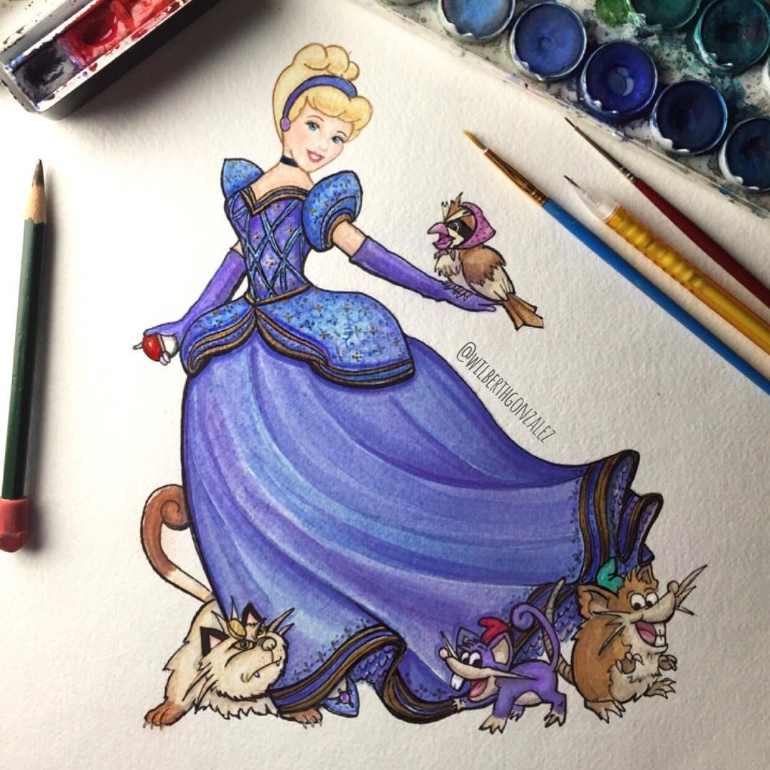 Pokemon Inspired Disney Princess Fan Art