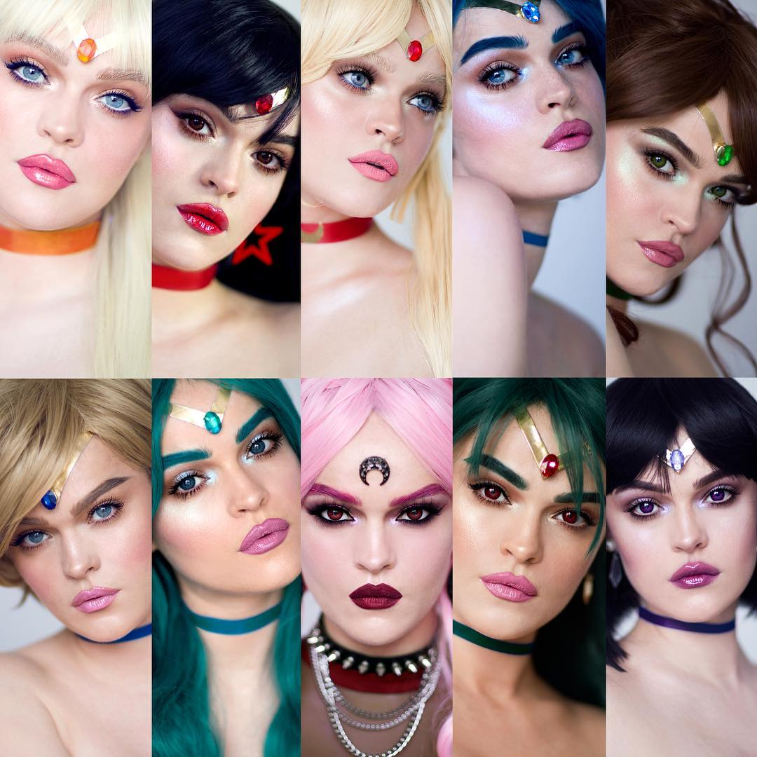 Makeup Artist Transforms Herself Into Every Sailor Moon Scout