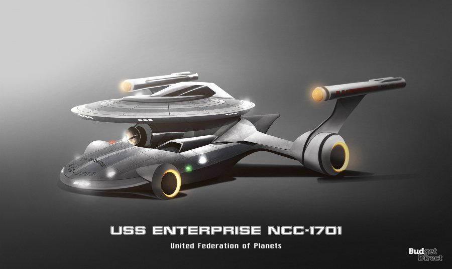 Star Trek Ships Redesigned as Cars