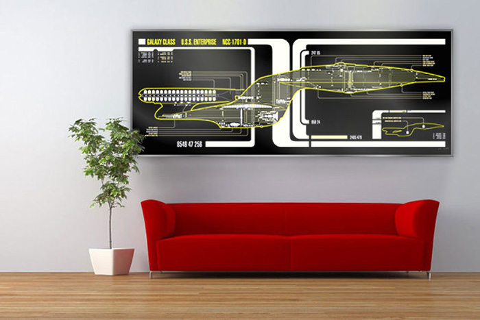 Star Trek LCARS Schematic Prints
