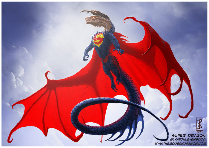 Marvel & DC Superheroes as Dragons