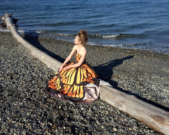 Transforming Butterfly Gown