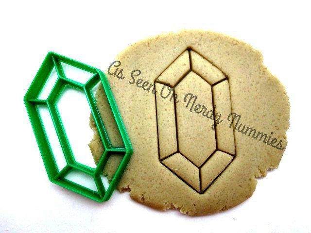 The Legend of Zelda Rupee Sugar Cookies