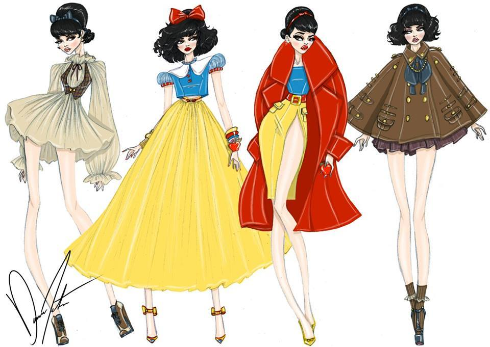 Disney Princess Fashion Designs