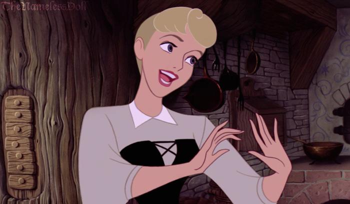If Disney Princesses Had Short Hair