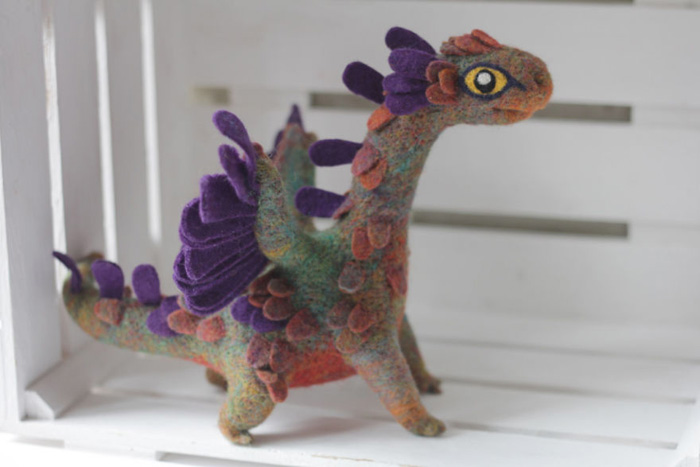 Handmade Felt Dragons