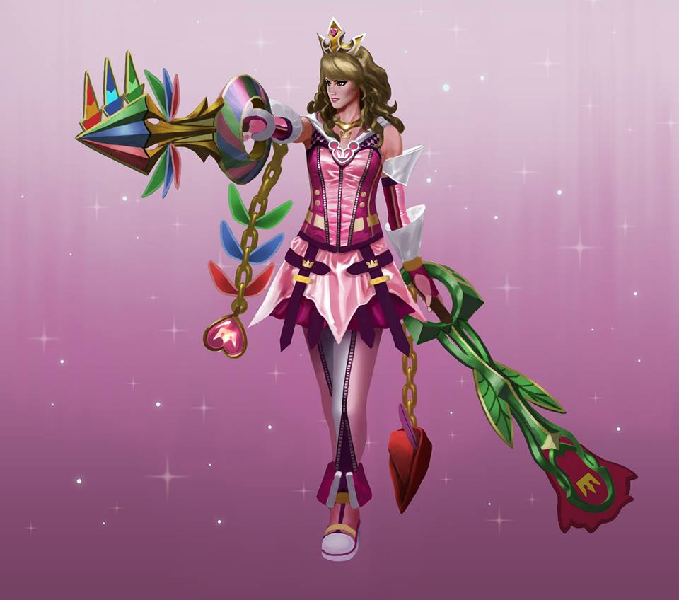 Kingdom Hearts Keyblade Princesses Fan Art