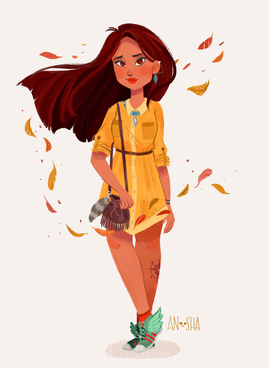 Modern Disney Princesses Fan Art