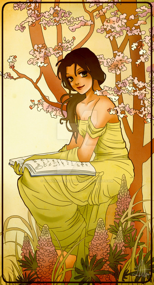 Mucha Inspired Disney Princesses Fan Art