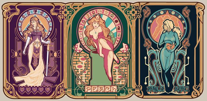 Nintendo Ladies Art Nouveau