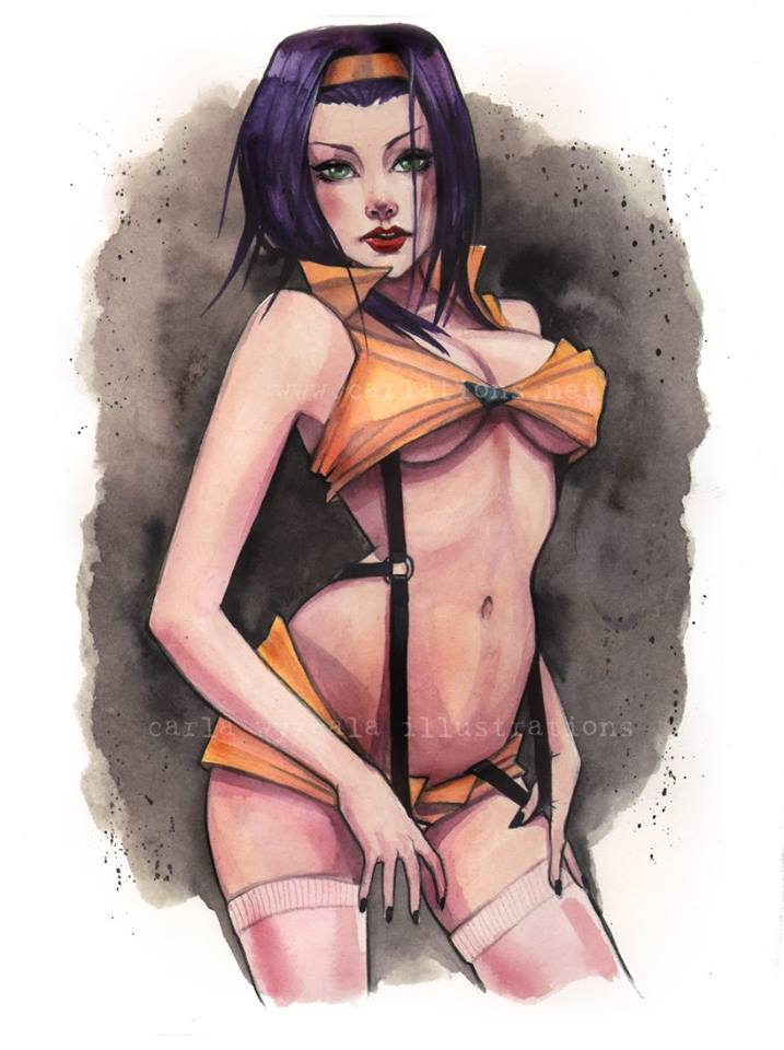 Sexy Geeky Watercolor Pinups