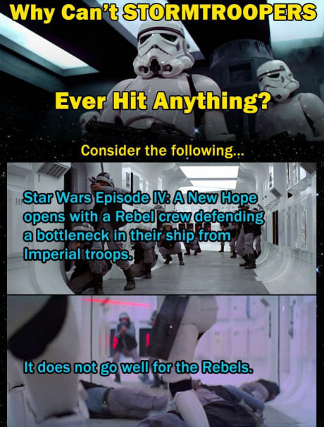 Why Stormtroopers Cant Hit Anything Fan Theory