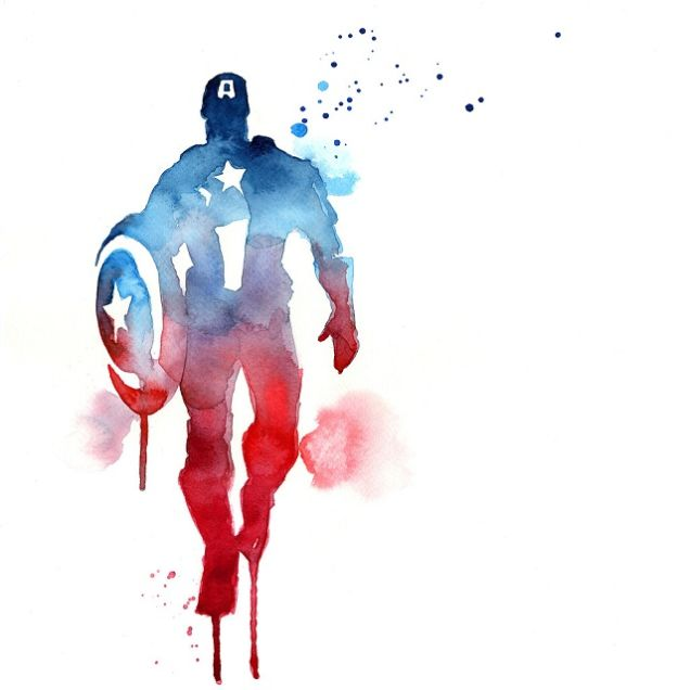 Avengers Watercolor: Watercolor Superheroes Fan Art
