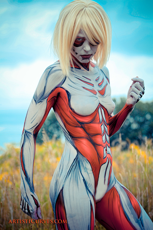 Female Titan Body Paint