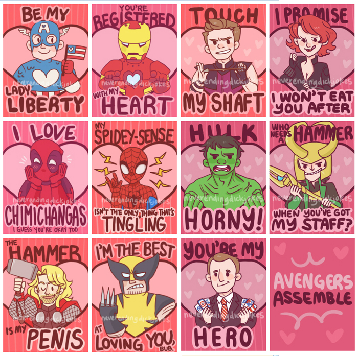 Geeky Valentine S Cards