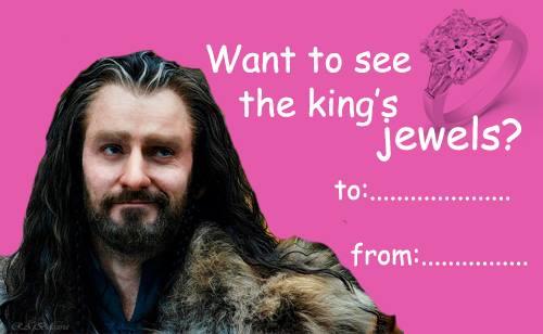 Hobbit Valentines Cards