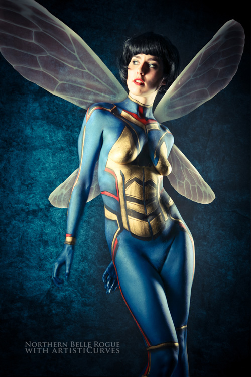 Wasp Body Paint Photoshoot