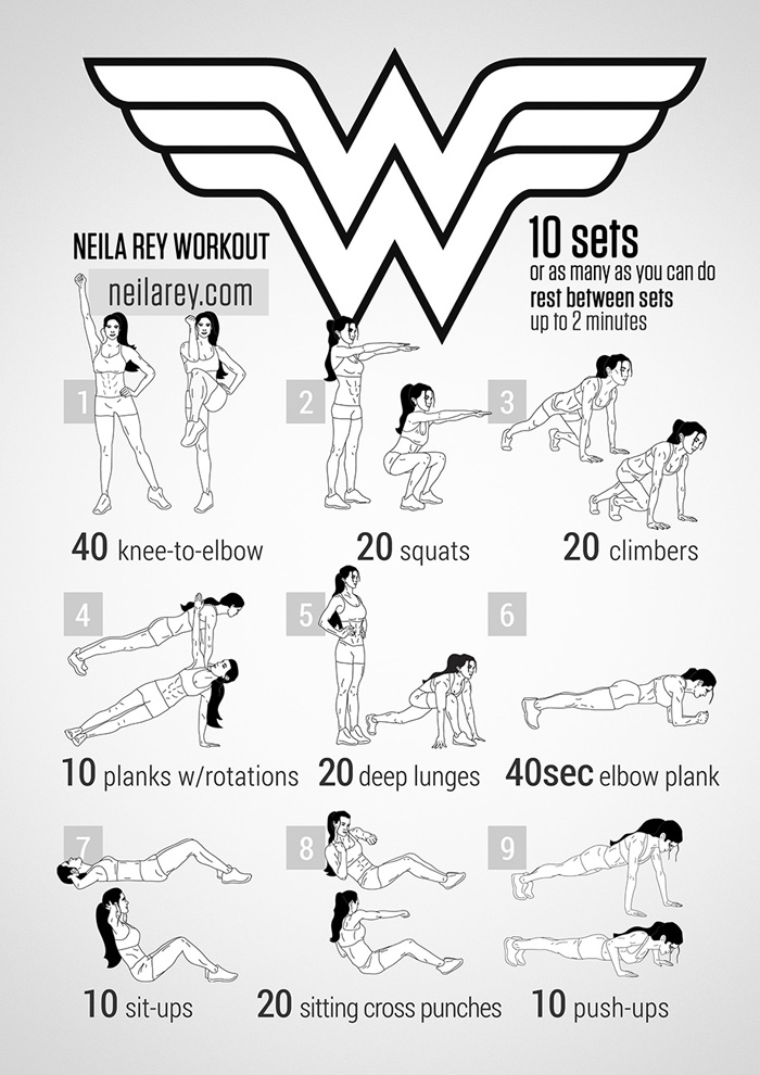 The Wonderwoman No Equipment Workout Exercise