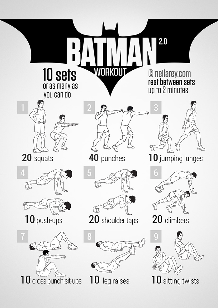 The batman no equipment exercise to 6 pack abs