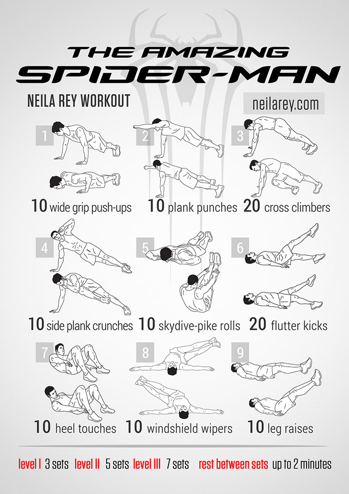 The Spiderman No Equipment Workout Exercise