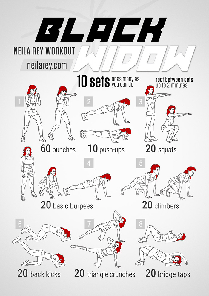 The Black Widow No Equipment Workout Exercise