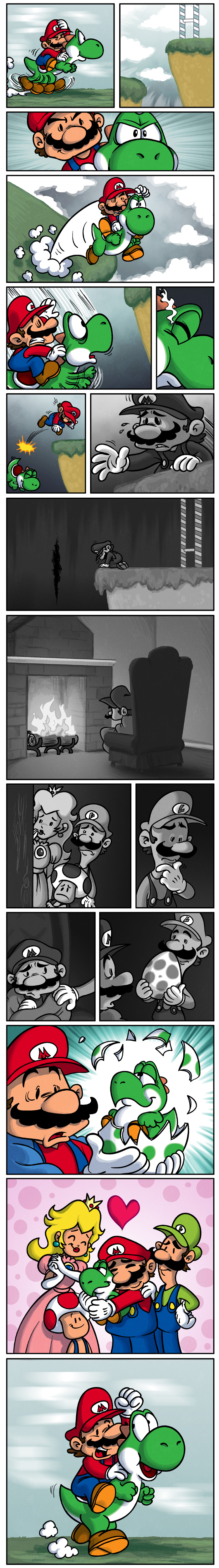 Dark Nintendo Comic: How Mario Deals with Yoshi